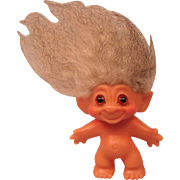 Vintage Thomas Dam Troll with Brown Glass Eyes