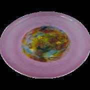 Signed Cenedese Murano Art Glass Dish 30.5 cm