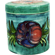 Moorcroft England Anemone Sage Green Covered Box