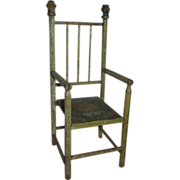 REDUCED EARLY and Wonderful Salesman Sample or Doll's Chair