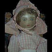 REDUCED RARE and Wonderful 19th Century Presbyterian Rag Doll c.1885