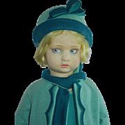"""SOLD LOVELY 17"""" Lenci Girl c. 1920's"""