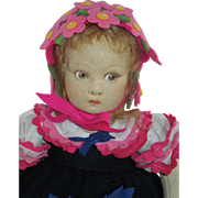 "SOLD Sweet 13"" Lenci Child 1930's"