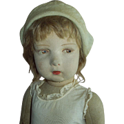 "SOLD Charming 22"" Lenci Doll Circa 1920's Well Loved and Needs TLC"