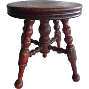 WONDERFUL Old Doll Size Salesman Sample Piano Stool