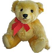 WONDERFUL 1983 Steiff Golden Original Teddy Bear 1909 Replica Bear... SWEET