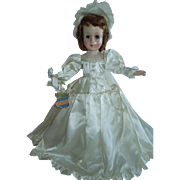 """REDUCED LOVELY 18"""" Rare Hard Plastic Little Bride by The Royal Doll Company New York c.19"""