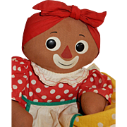 AWESOME 1965 Knickerbocker Beloved Belindy Rag Doll.