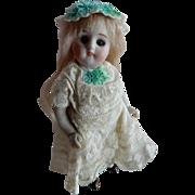 """ADORABLE 5"""" Swivel Neck Kestner All Bisque Doll"""