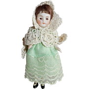 "DAINTY Kling All Bisque Girl 4"" tall"