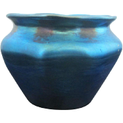 Tiffany LCT Favrile Iridescent Blue Small Vintage Cabinet Vase