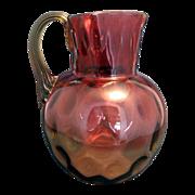 Vintage Amberina Water Pitcher