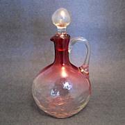 Vintage Cranberry Glass Ewer