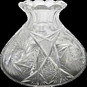 American Brilliant Period Cut Glass Vase or Decanter