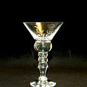 King Gustav III Crystal Stemware Martini Glass Set, 11 Pieces