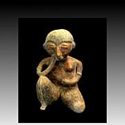 Kneeling Mayan Woman Figurine
