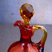 Amberina Glass Cruet