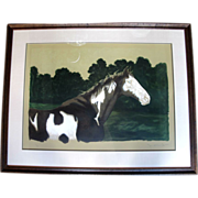 Signed Limited Edition Realism Lithograph MOON and the HORSE by Jamie Wyeth