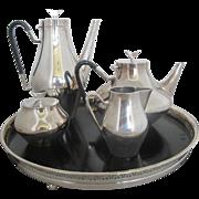 SALE Mid-century Modern REED & BARTON John Prip Silver Plate DENMARK Coffee and Tea Set