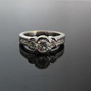 GIA Platinum Diamond Engagement Ring