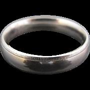 Men's Platinum Comfort Fit Milgrain Wedding Band by Benchmark.