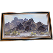 "Original Landscape Oil Painting by Bill Freeman Titled ""Lost Desert"""