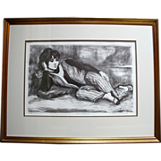 8th Street Odalisque Original Signed Lithograph by Marion Greenwood - Limited Edition