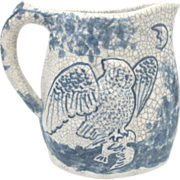 Dedham Pottery 1826-1928 Morning Bird and Night Owl Pitcher