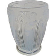 R Lalique Opalescent Danaides French Art Glass Vase c1926 w/Nude Water Maidens