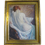 SALE Original Signed Frank Ashford Clifford Nude Female Portrait Oil Painting c1914