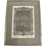 SALE Holy Physics  Johann Jakob Scheuchzer Antique Crucifixion Framed Copper Engraving Plate