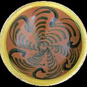 SALE Antique Brightly Colored Spanish Majolica Earthenware Bowl