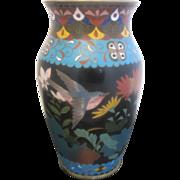 Japanese Meiji Era Cloisonne Flower Vase