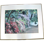 SALE Spring at Crystal Springs Original Framed Impressionist Painting by Oregon Artist Sidonie