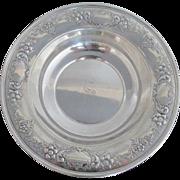 Sterling Silver Gorham 1027 Bowl w/Floral & Scroll Design S Monogram