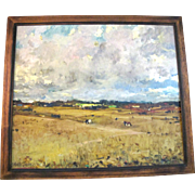 SALE ORIGINAL Fernando Morales Jordan Country Ranch LANDSCAPE Signed Oil Painting