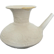 Ancient SONG DYNASTY 960-1279 Glazed White Ware Ceramic Ewer or Tea Pot