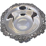 Antique c1898 Tiffany Sterling Silver Clover Shamrock & Thistle Large Bowl