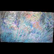 Pacific NW Artist Ann Ruttan Large Floral Wildflower Original Oil Painting