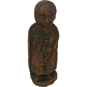 18th Century Santos Carved Wood ST PETER Icon w/Key Carving Statue German