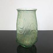 Gorgeous Loetz Oceanik Green Iridescent Art Glass Vase c1905