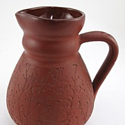 Early Rookwood Red Clay Pitcher 1881