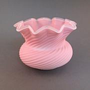 Sandwich Peachblow Swirl Low Vase