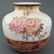 Tapestry Style Burslem vase by Doulton