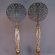 Gilt Bronze Andirons - Art Nouveau, French-Style
