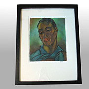 "John M. Kelly ""Mahiai.Hawaii"" Signed, framed Original Mixed Media"