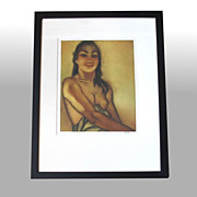 "John M. Kelly ""Untitled"" framed, signed aquatint (partial nude)"