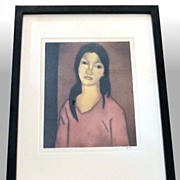 "John M. Kelly ""Mokihana Hawaii'i"" signed, framed aquatint"