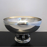 Hamilton Sterling Silver Mid Century Footed Bowl 806g