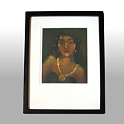 "John M. Kelly ""The Brown Princess"" Framed & Signed Aquatint"
